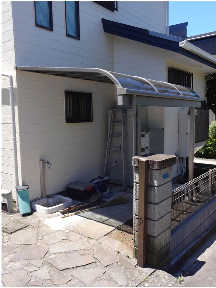 富士ビレッジ:住宅全面改装☆7 玄関横 大雪被害 テラス変更編