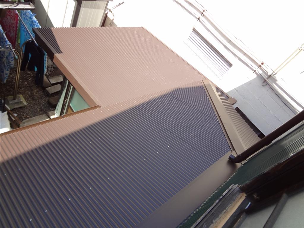築84年住宅全面改装工事 下屋根