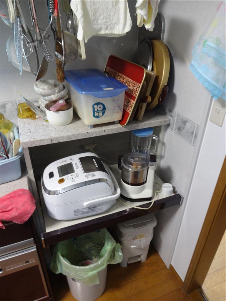 豪華なキッチンに改装☆家電収納