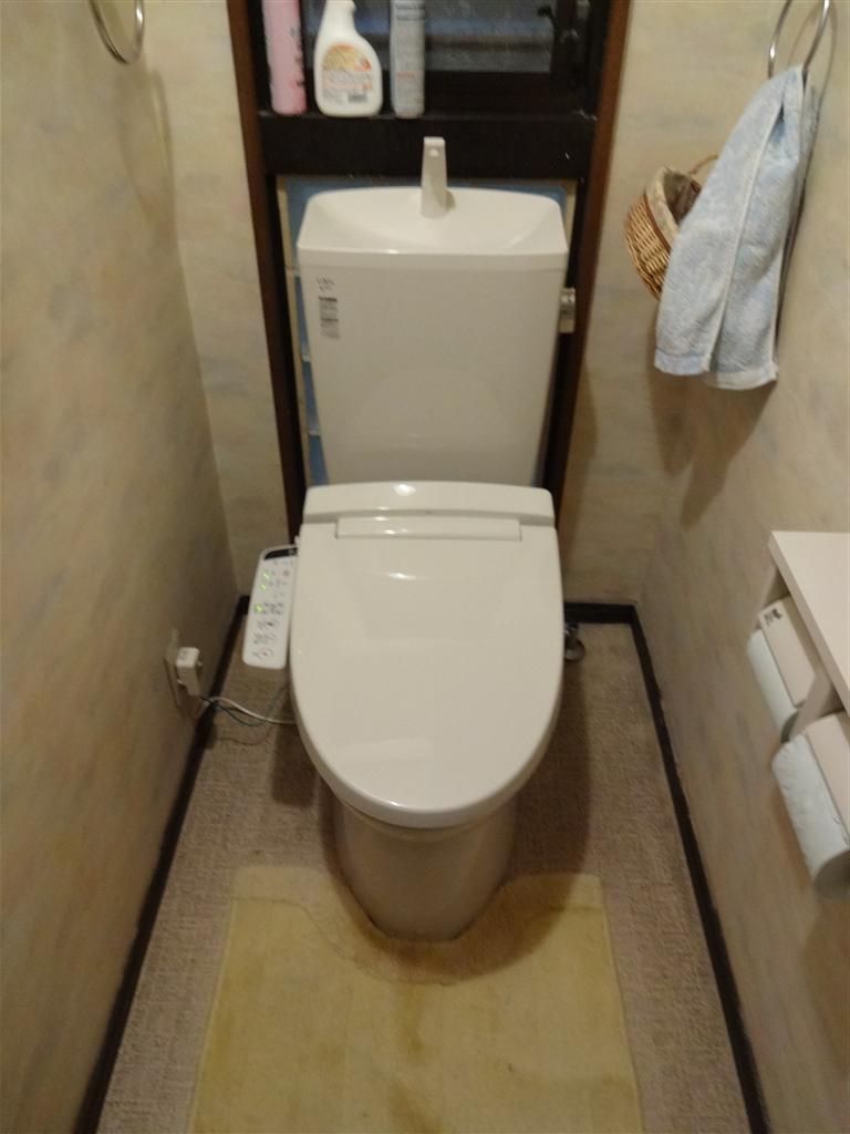 マンションのトイレだけを取替えてください。