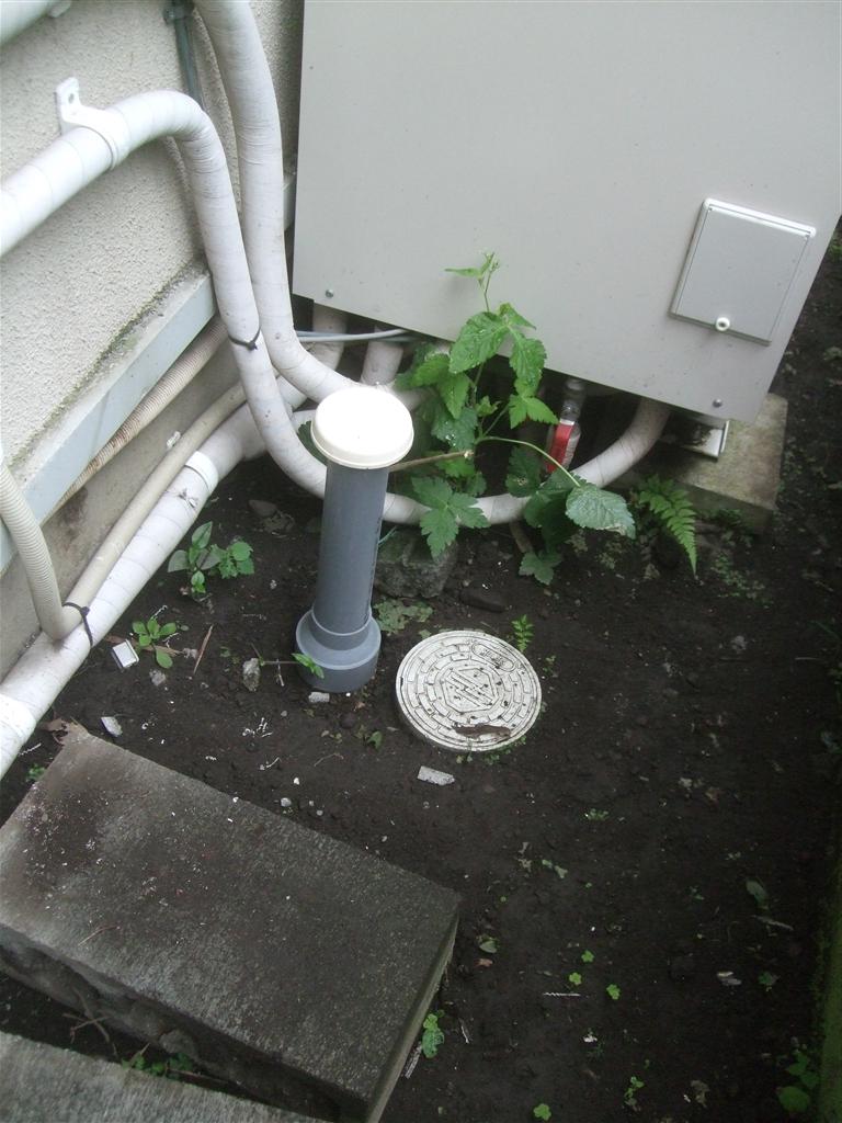 浴室の工事の後で排水の問題
