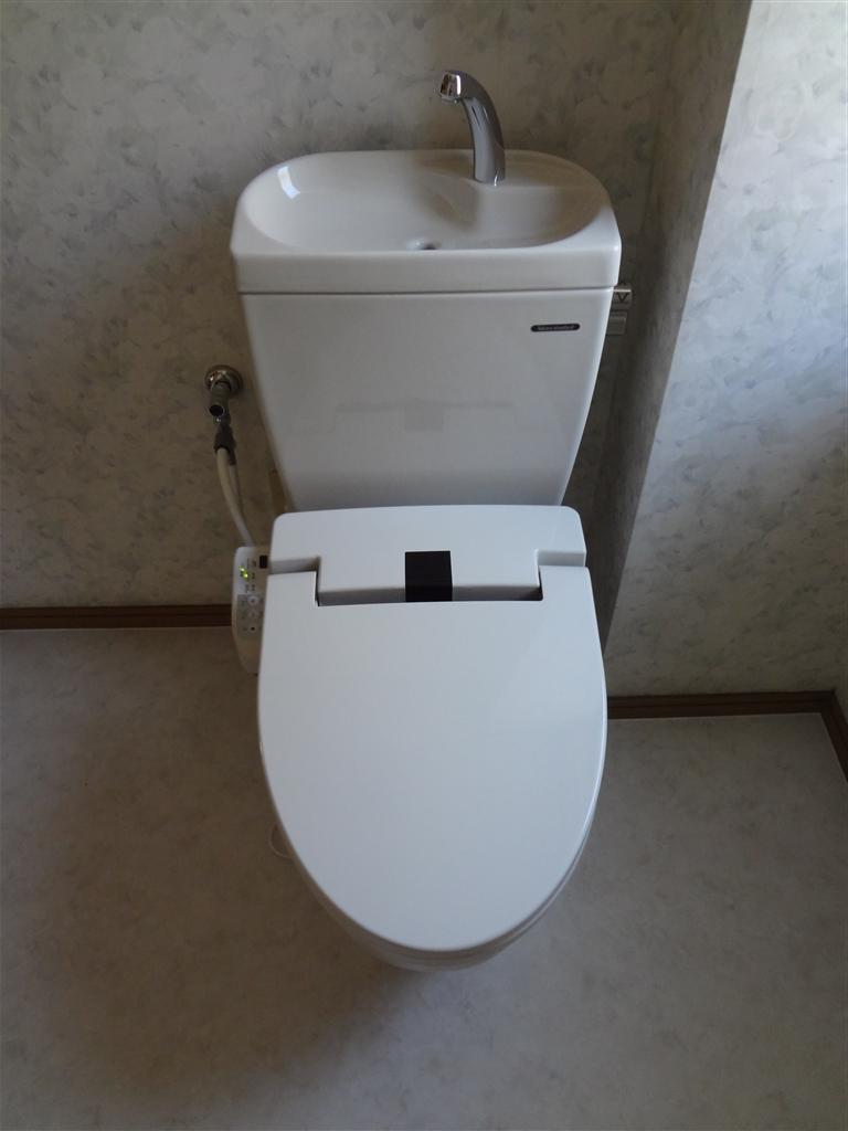 浴室と一緒に1Fトイレも全てきれいにしてください☆
