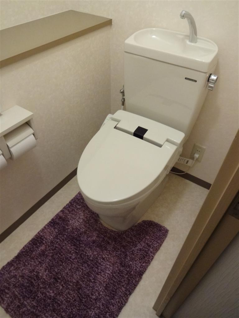 マンションのトイレを取替え