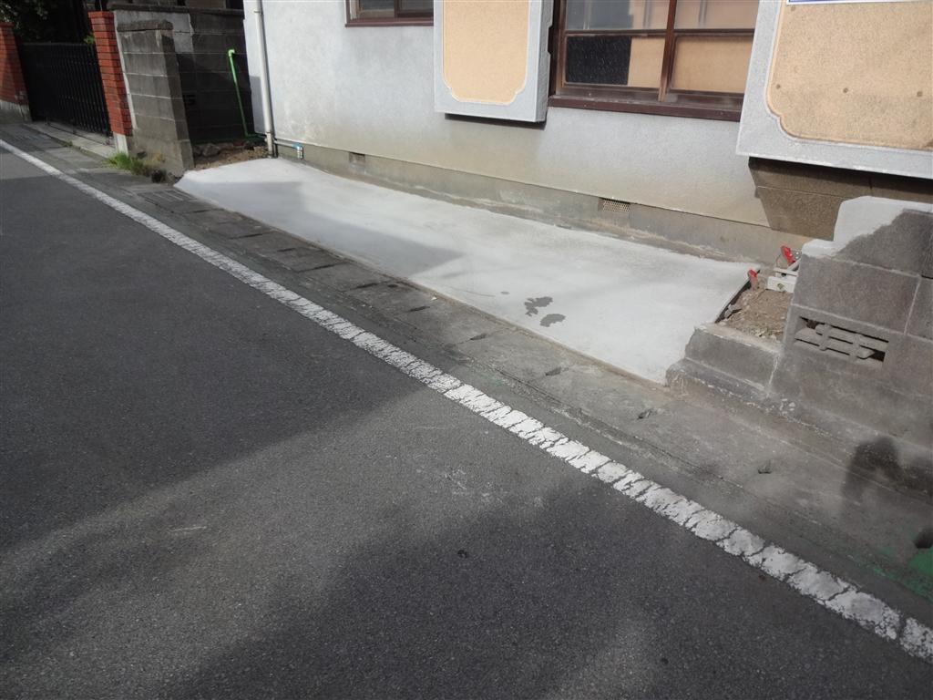 ここに長く住みたいので・・・車停車場設置