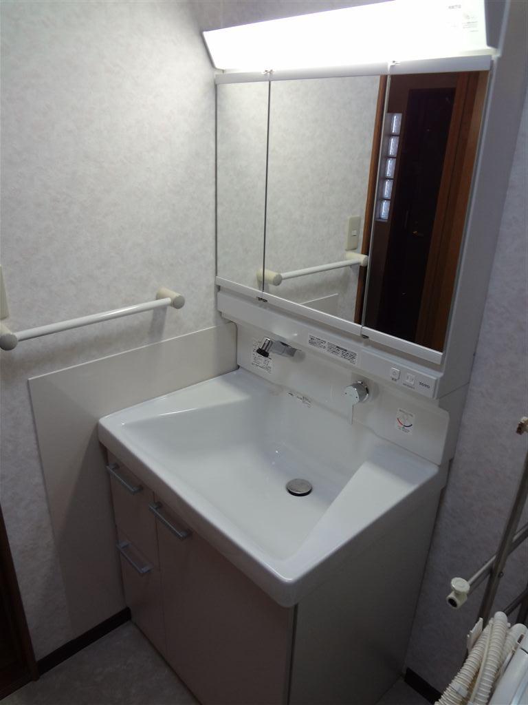 マンションの浴室と一緒に脱衣場改装