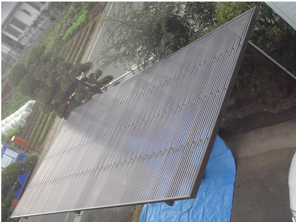 雨漏り補修と一緒に・・・カーポート屋根