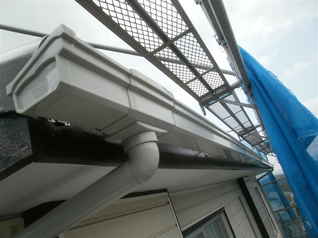 屋根塗装と一緒に雨樋取替え!