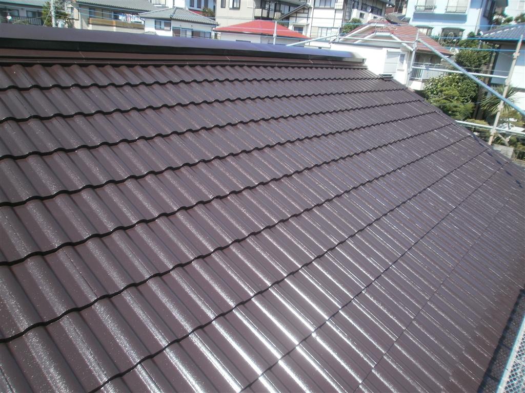 洋瓦の屋根を塗装!