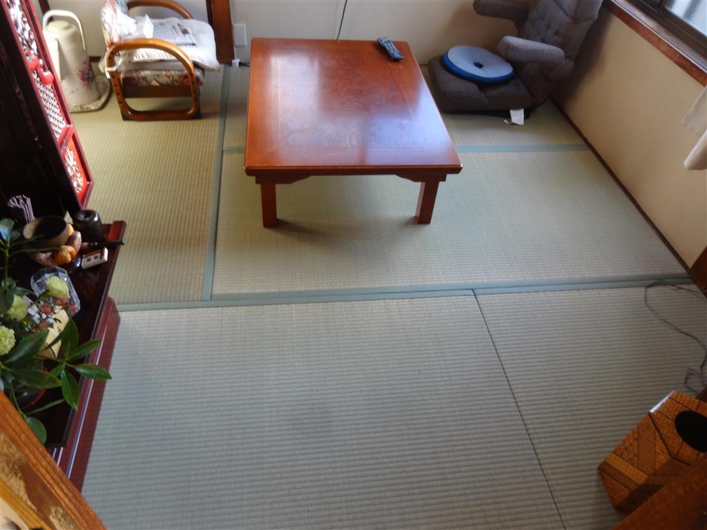 4.5畳の居間畳表替え!
