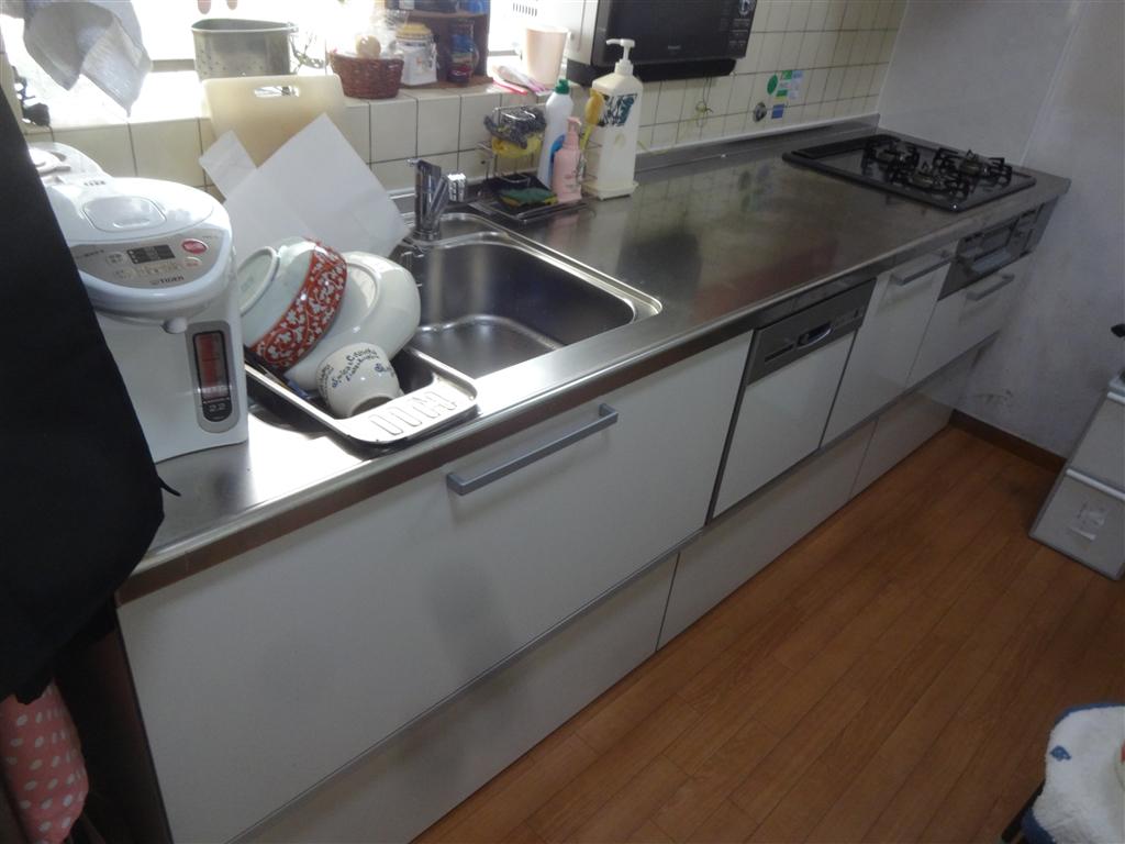 キッチン本体を食洗機入れて取替え