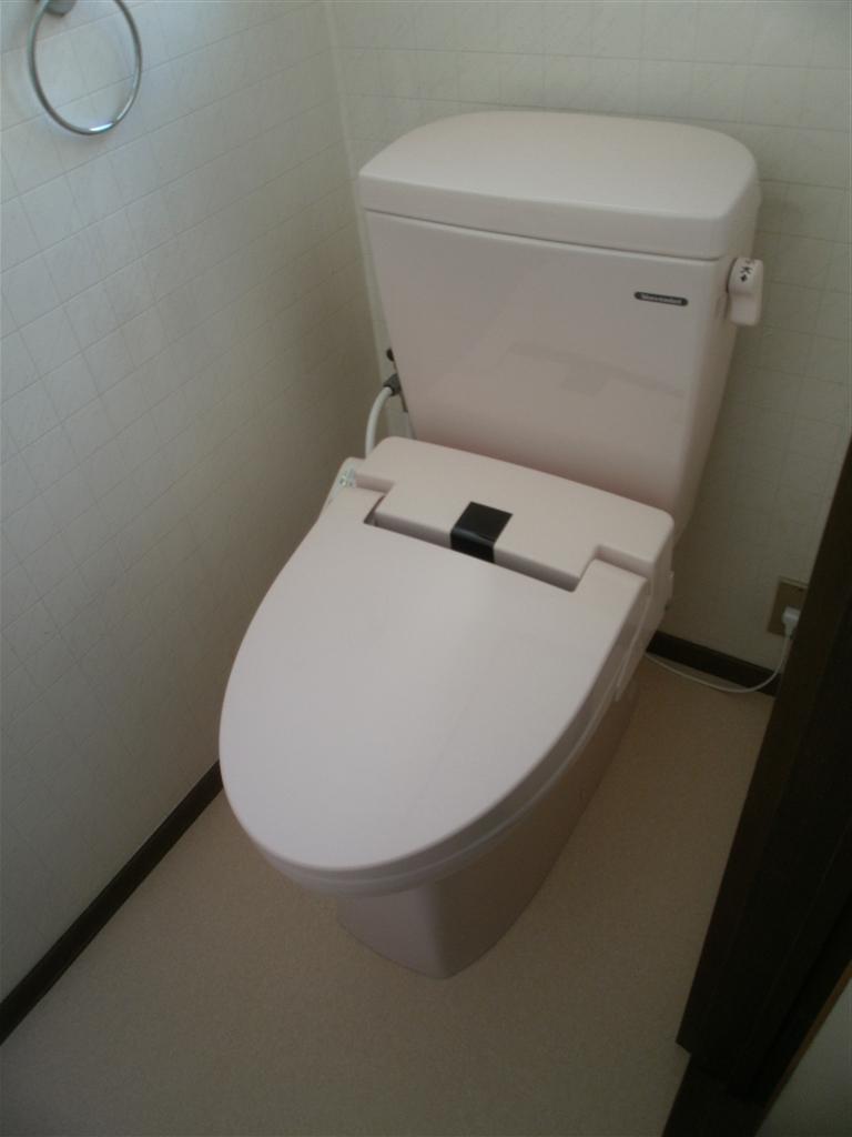 なんか漏れてる1Fのトイレと一緒に2Fも!
