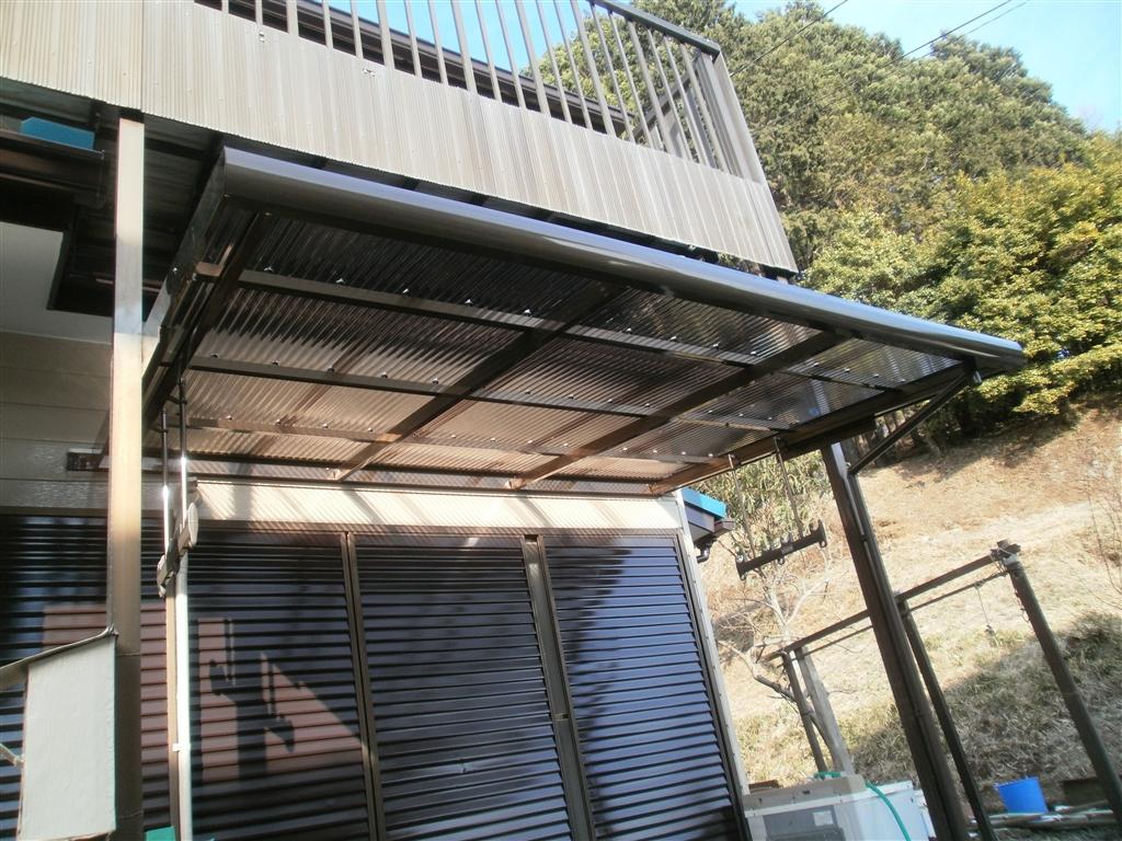 この家でこれからも暮らしていくので・・・テラス屋根