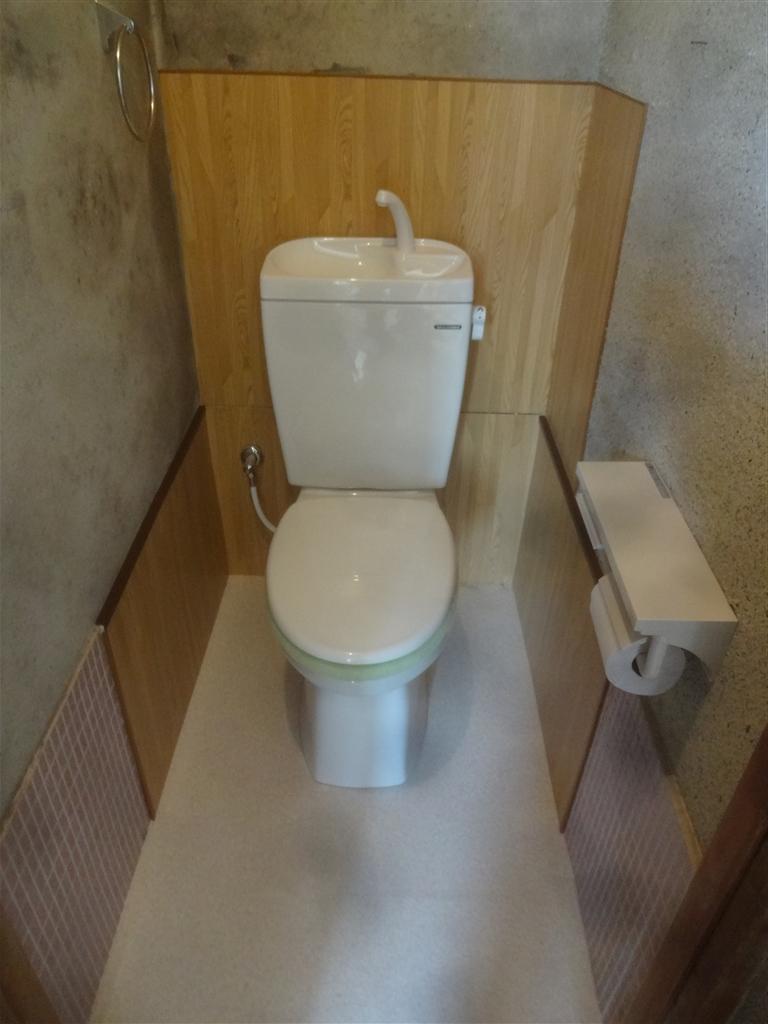 最低限!漏水補修 2F 洋式トイレに改装 激安♪