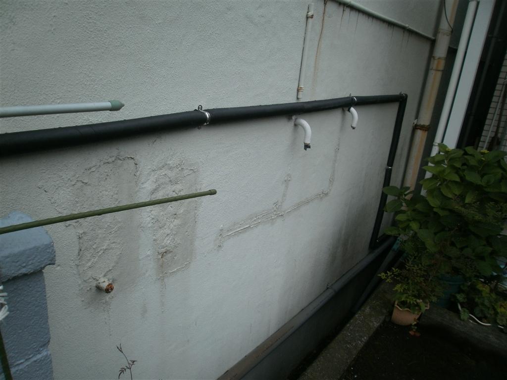 水道管を新しくします♪地中の水道管はそのまま!
