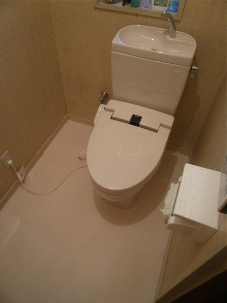 手洗いを無くして2Fトイレ改装工事