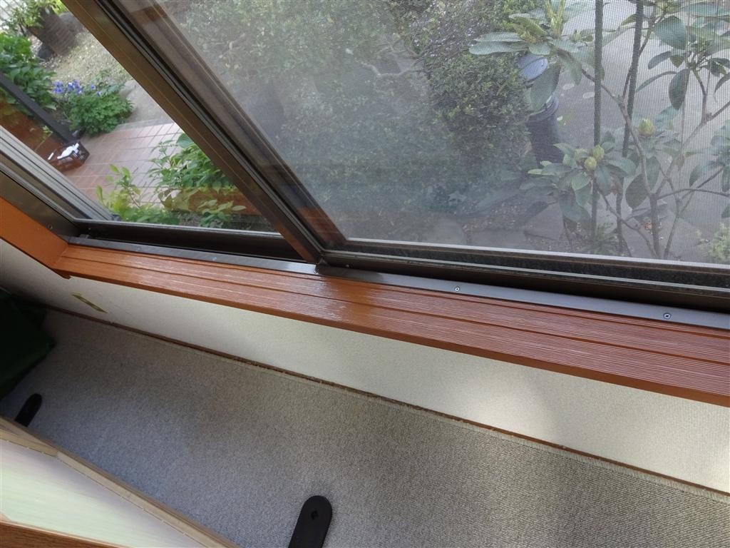 和室の腰窓枠をきれいに!