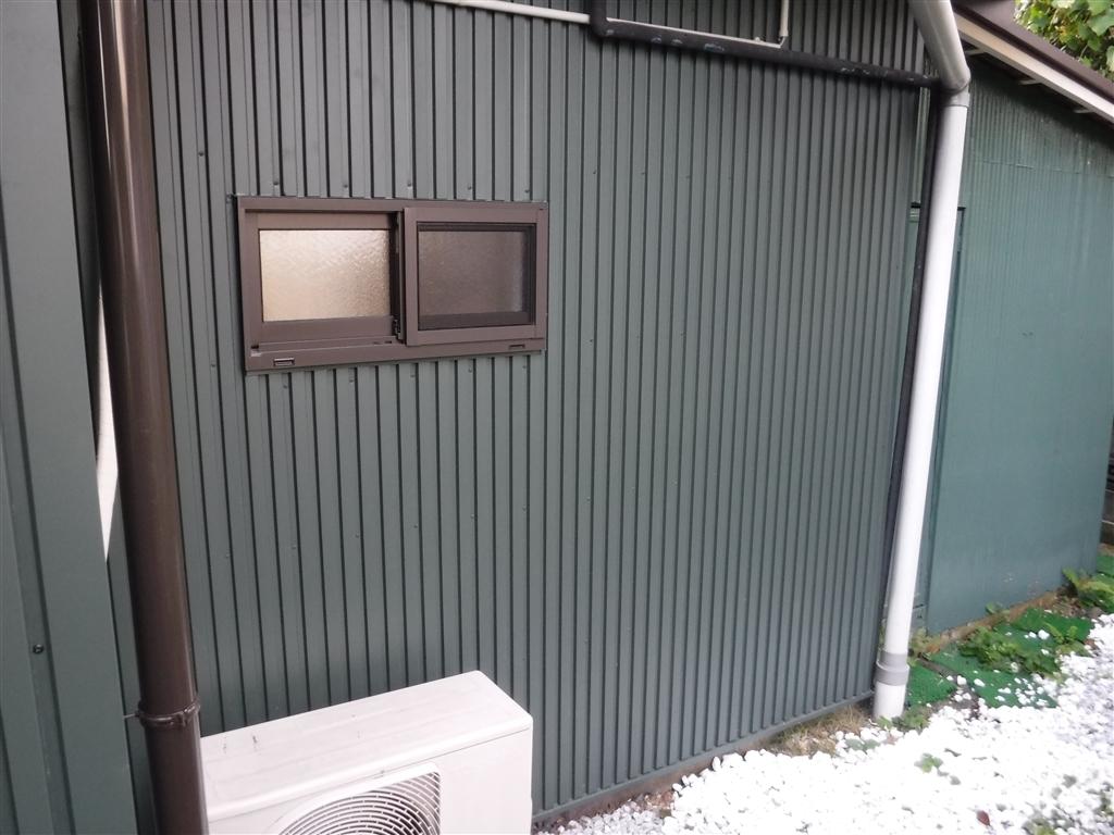 えいごのひろば 改装工事 1F 東側 窓取替え&外壁サイディング貼り