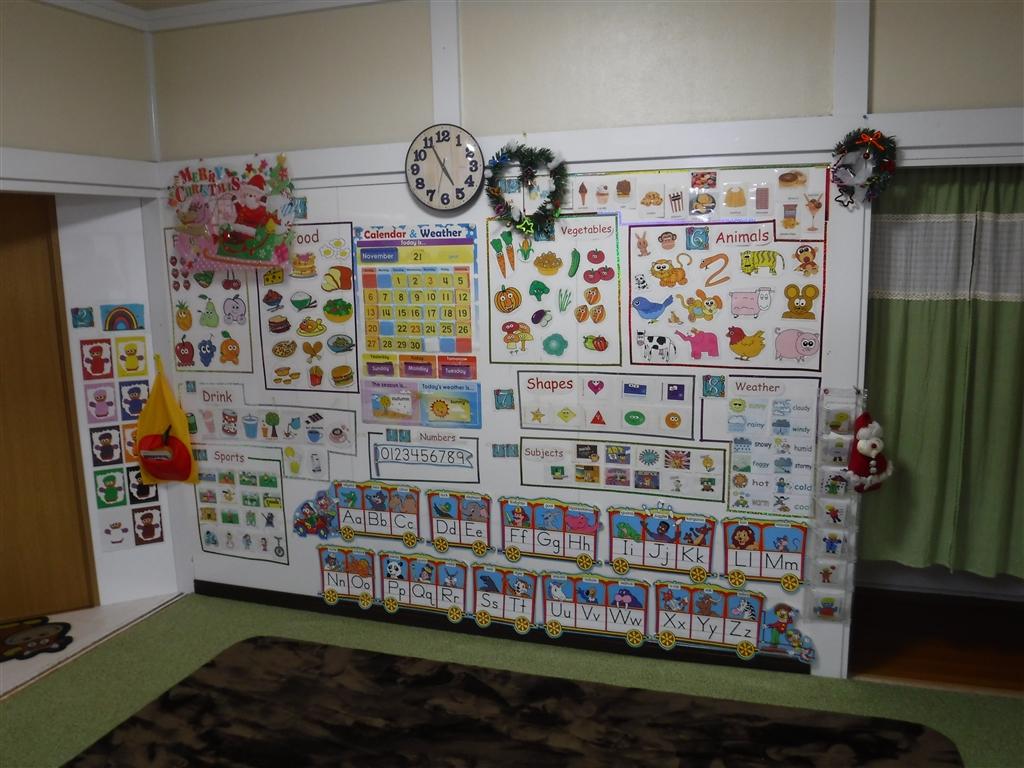 えいごのひろば 改装工事 教室 クリスマス