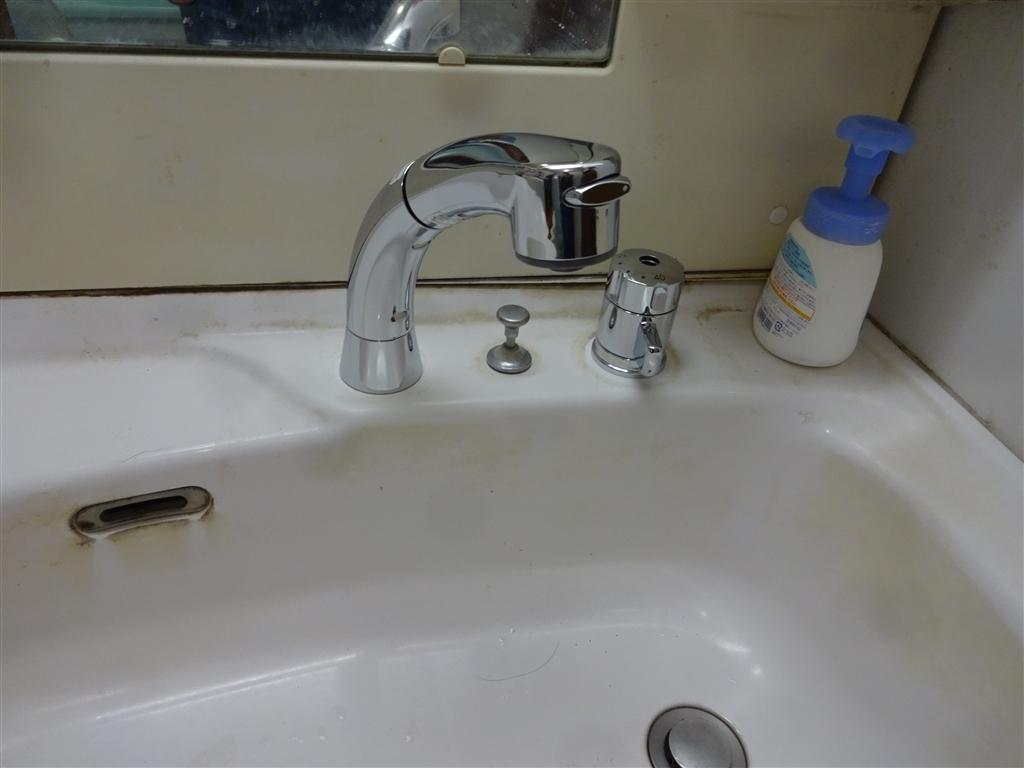洗面化粧台取替えてから10年・・・水栓だけで!