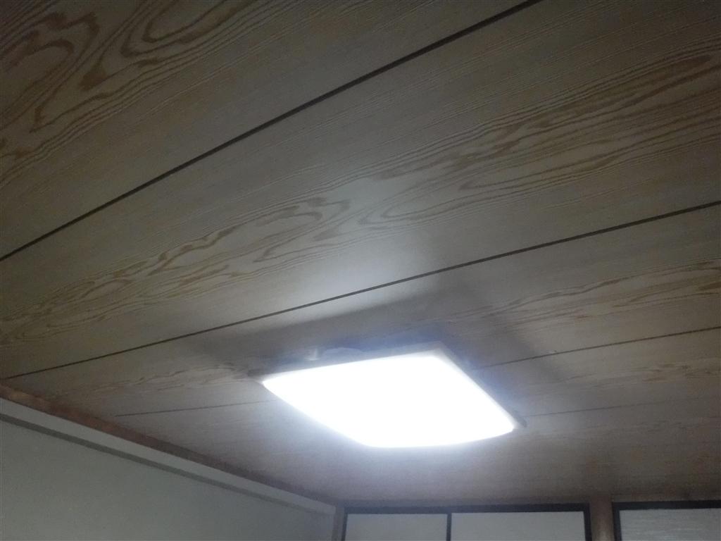 マンションの和室天井が急に垂れ下がって・・・仮に補修工事