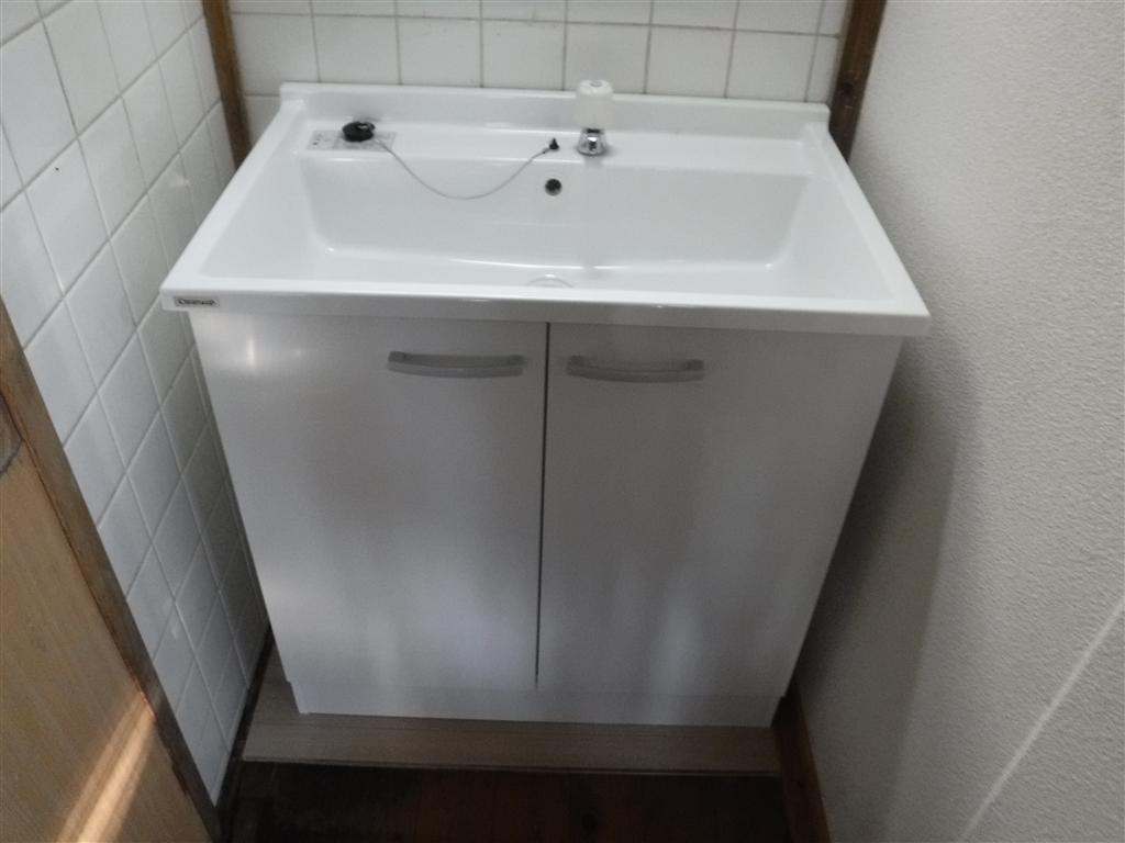 洗面台設置!限られた予算で条件を満たしていただければ・・・