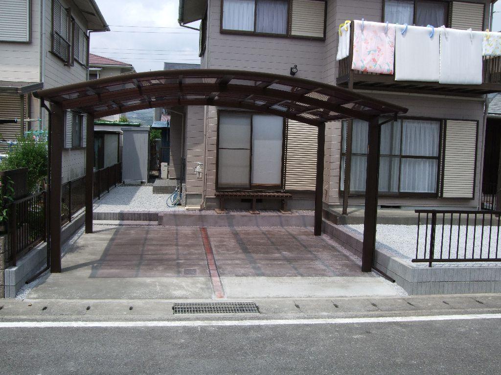 中古住宅購入♪できる範囲で改装!駐車場・カーポート