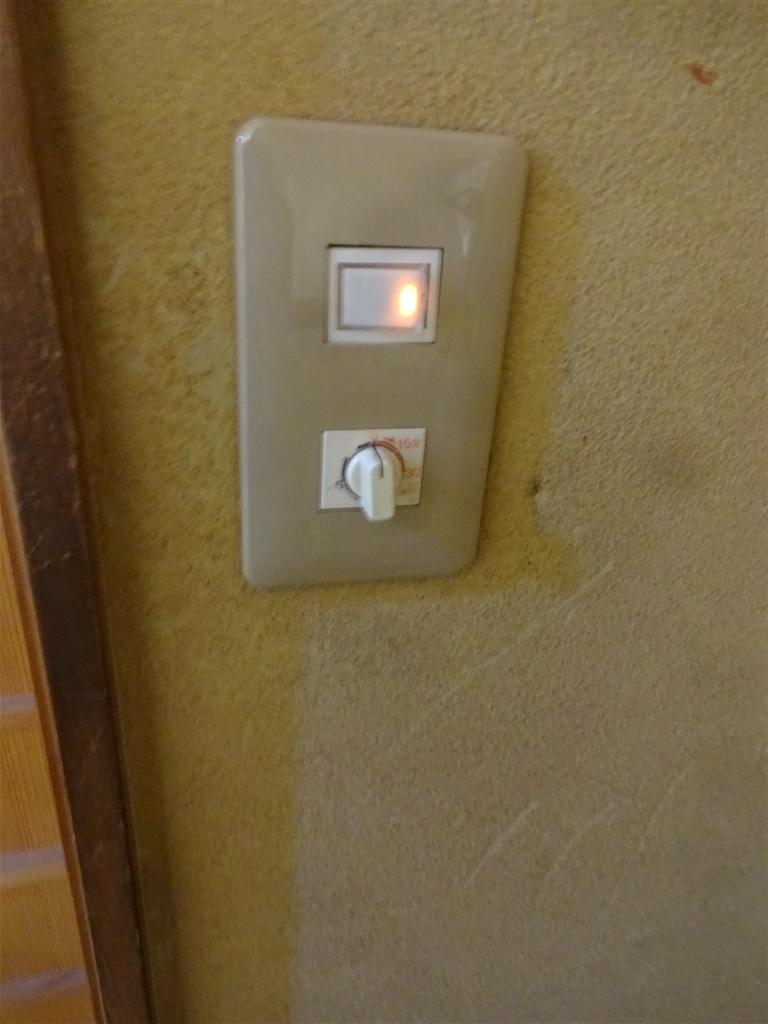 2Fトイレの照明のスイッチだけなんですが・・・