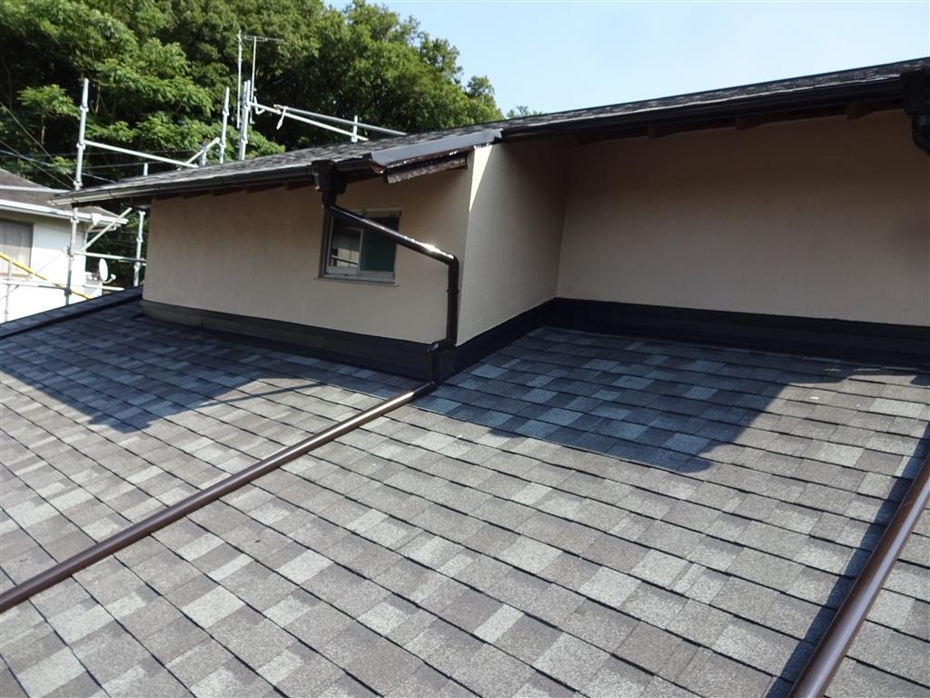 この家で暮らしていくしか・・・ 塗装工事 外壁2F・雨樋・戸箱・木部