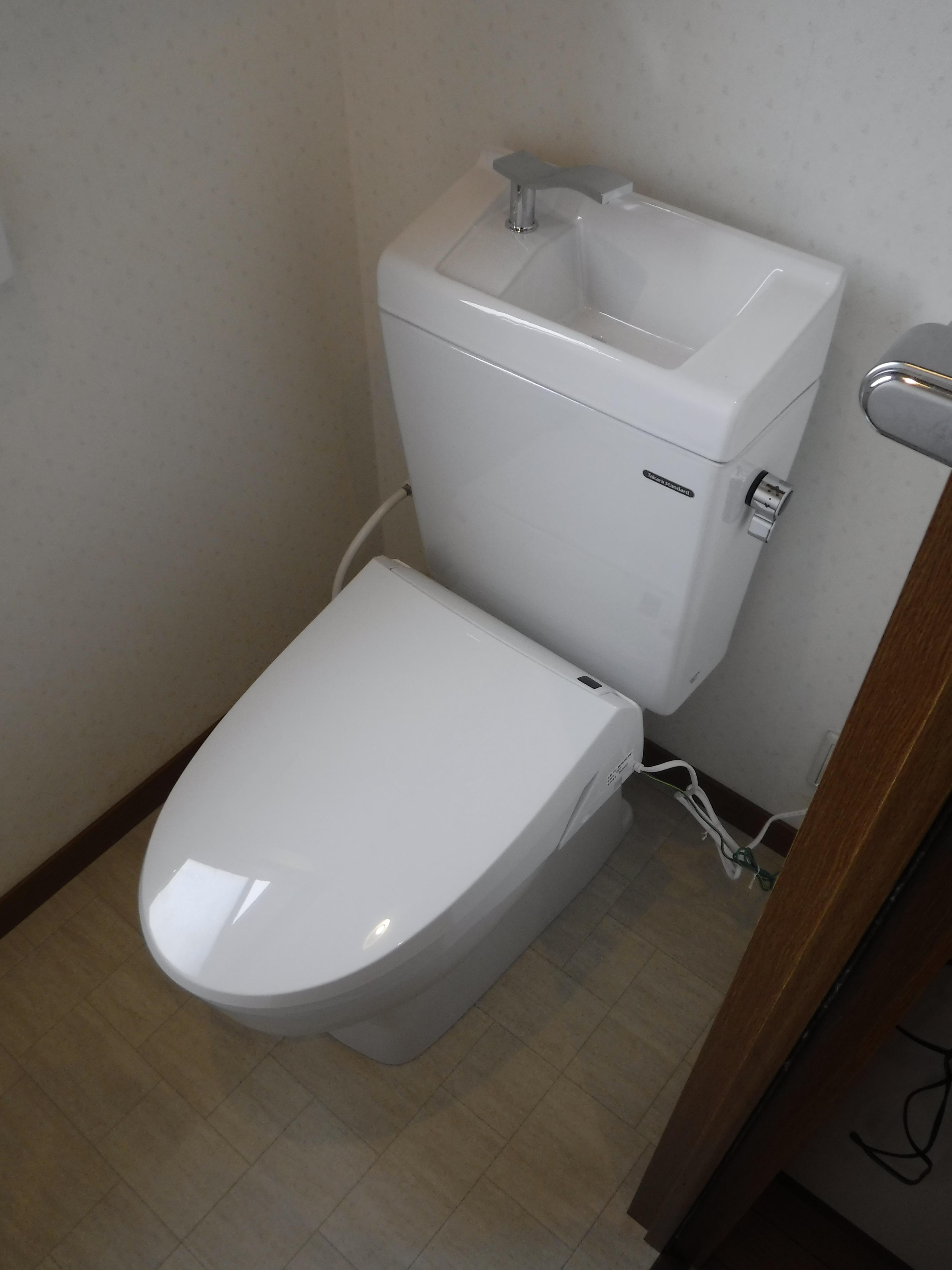 2Fのトイレも漏れてた・・・一緒に!