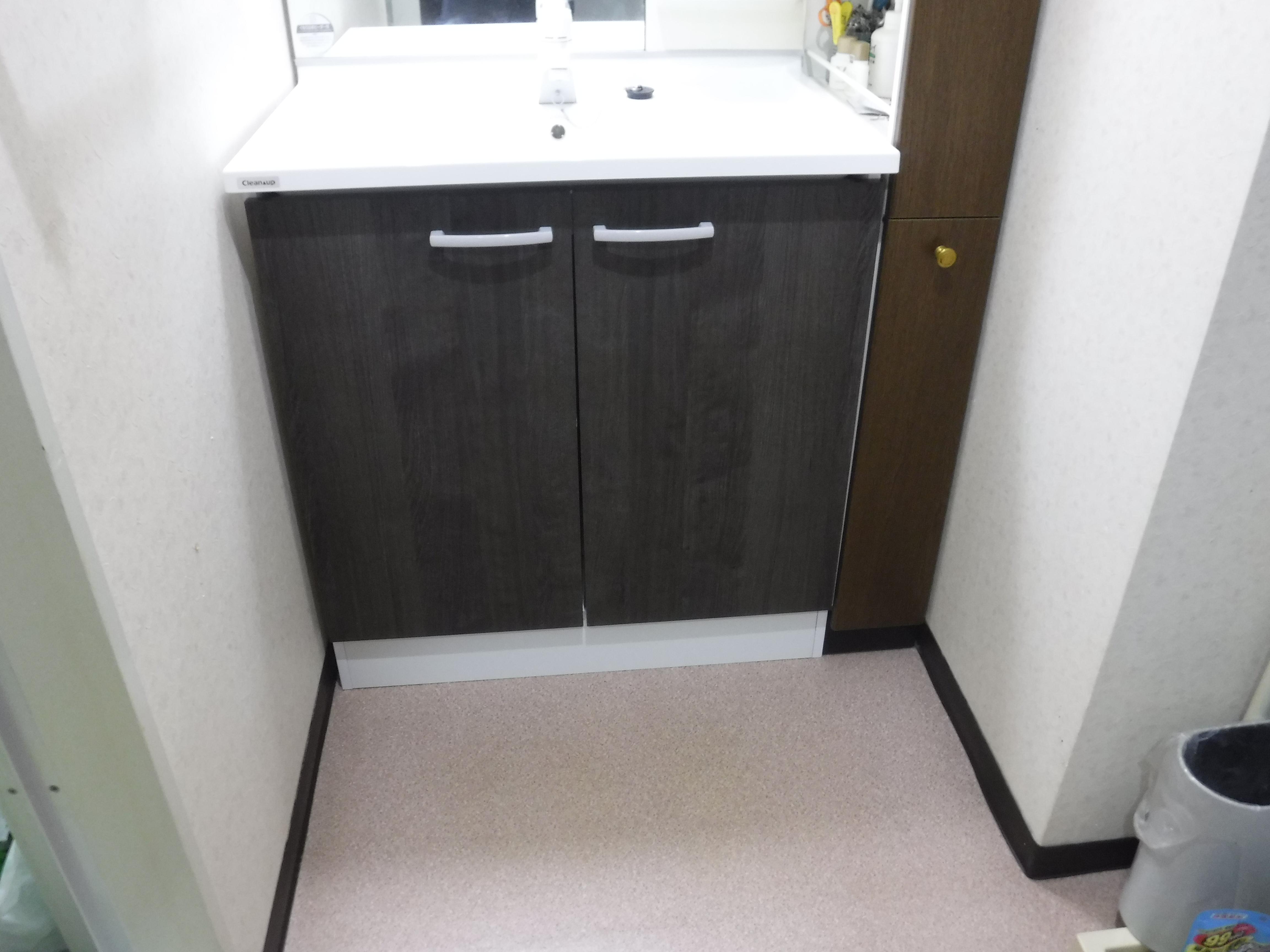 マンション洗面台の水栓から漏水・・・!?
