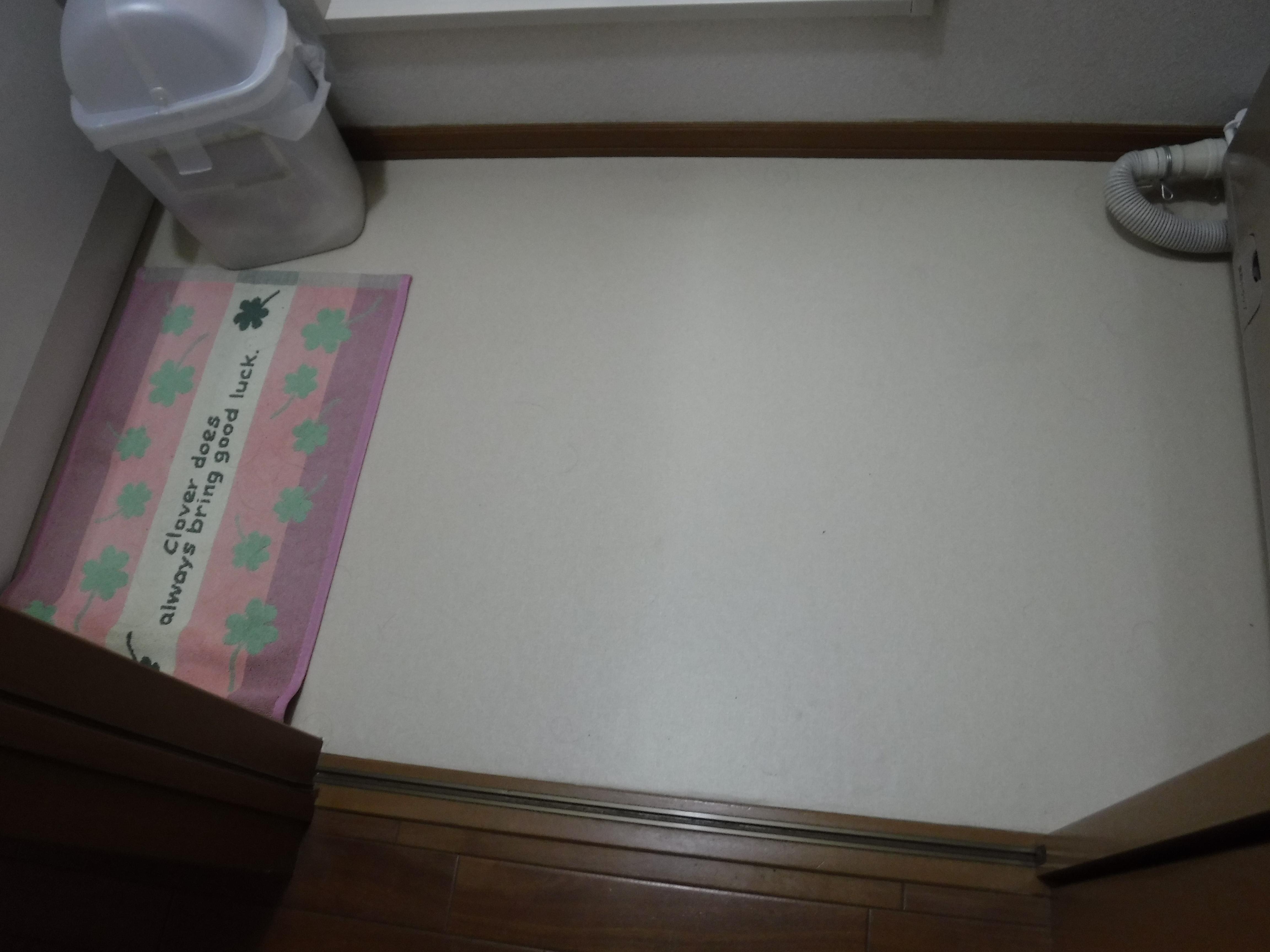我家のいろんな物が寿命なのか・・・?脱衣場 床CF&洗濯機水栓