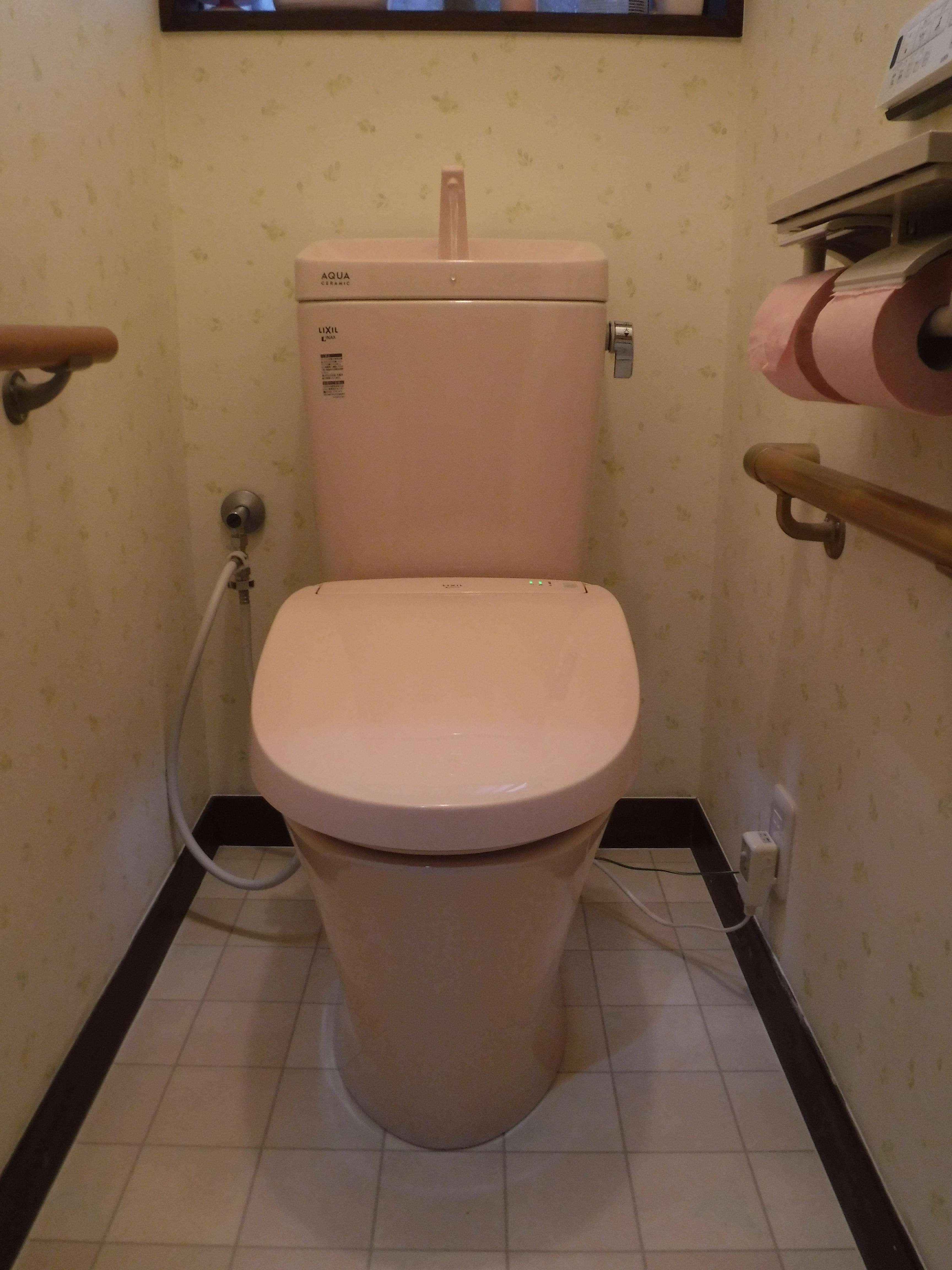 浴室の補修費用を抑えたので、トイレ取替え♪