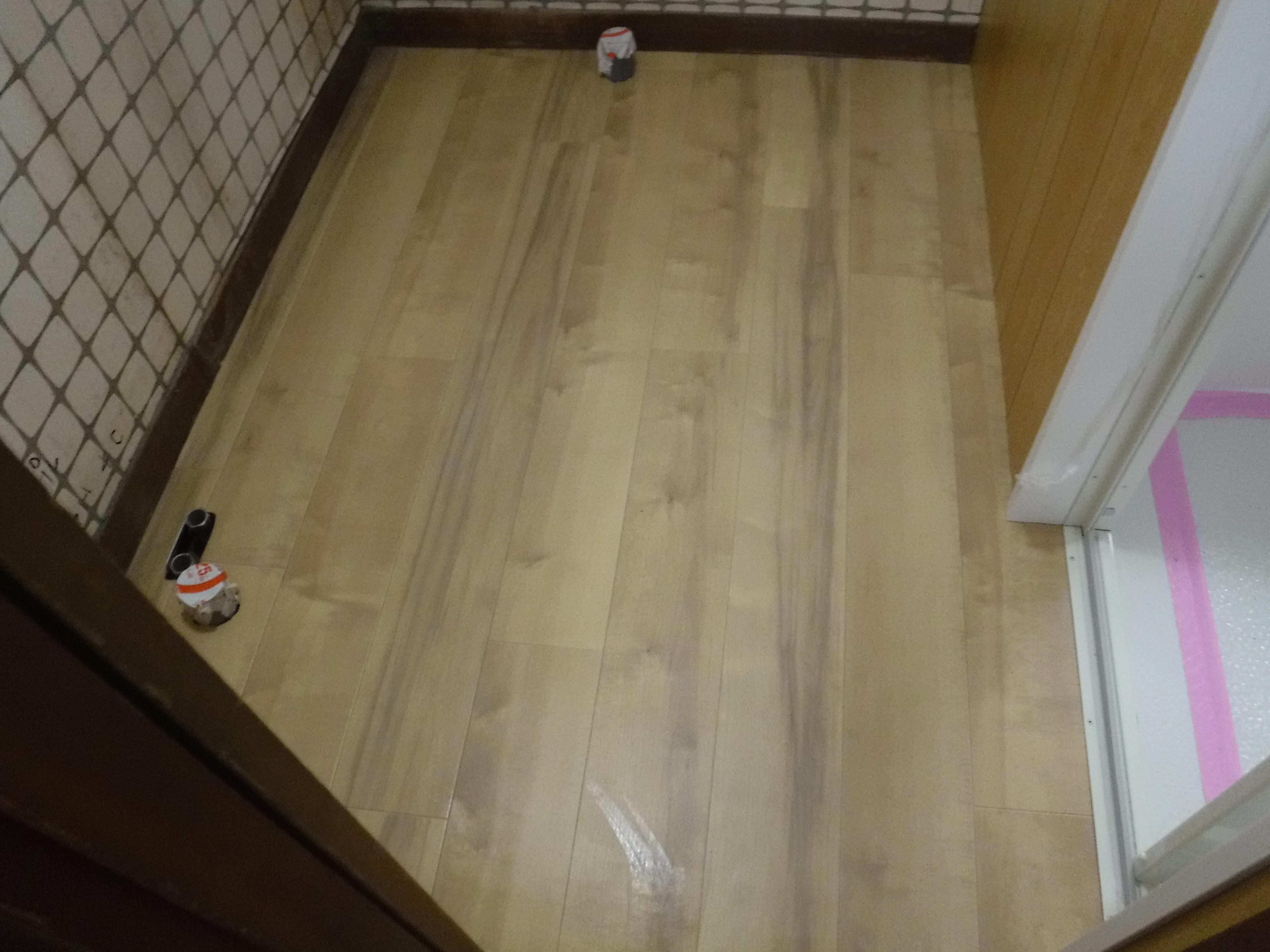 介護保険を活用して改装工事 脱衣場 床補修