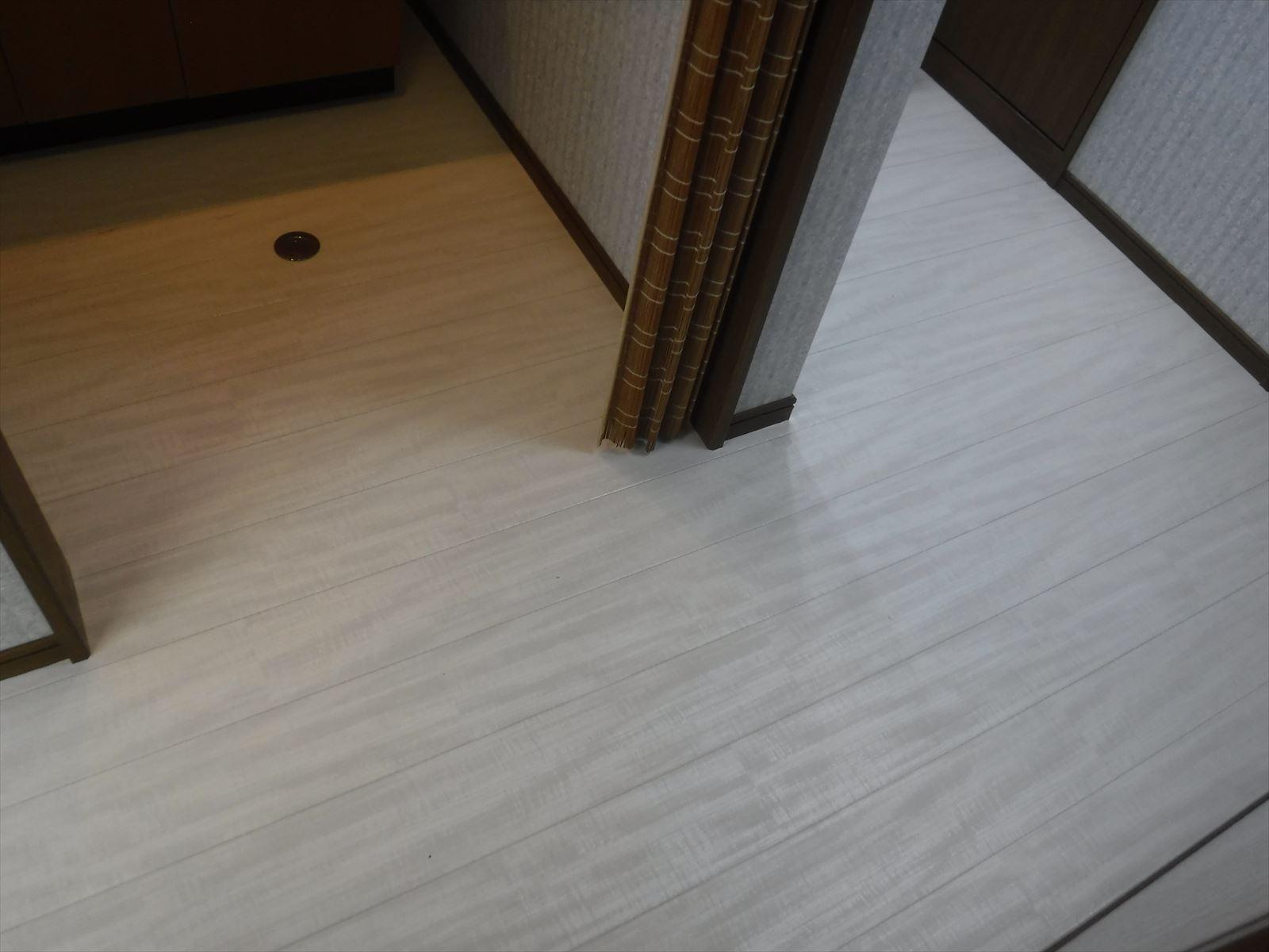 事務所の水廻りを改装!給湯室 床 クッションフロア貼替え