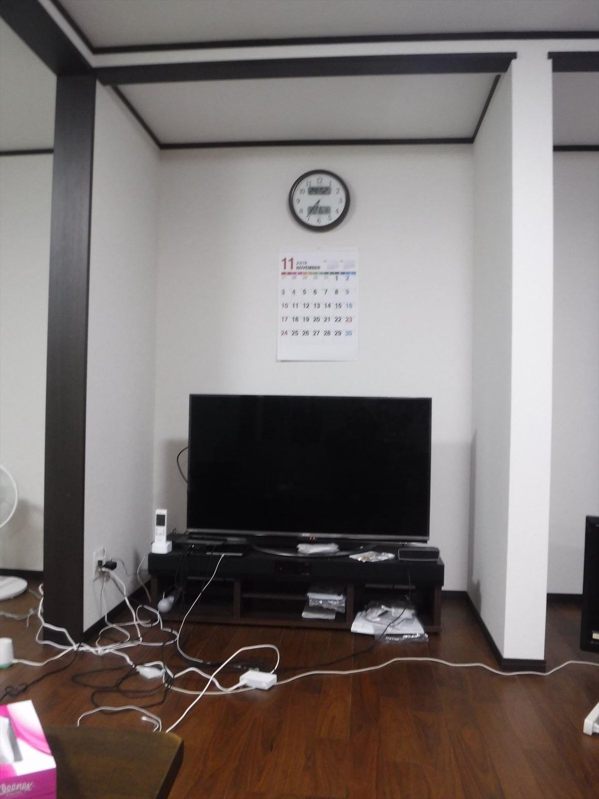 この家で暮らしていくしか・・・更に超拡大 床の間変更 テレビ置場