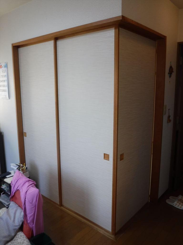 マンション 和室 襖貼替え