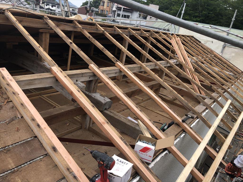 台風19号で瓦が超~ズレた!大屋根 解体工事