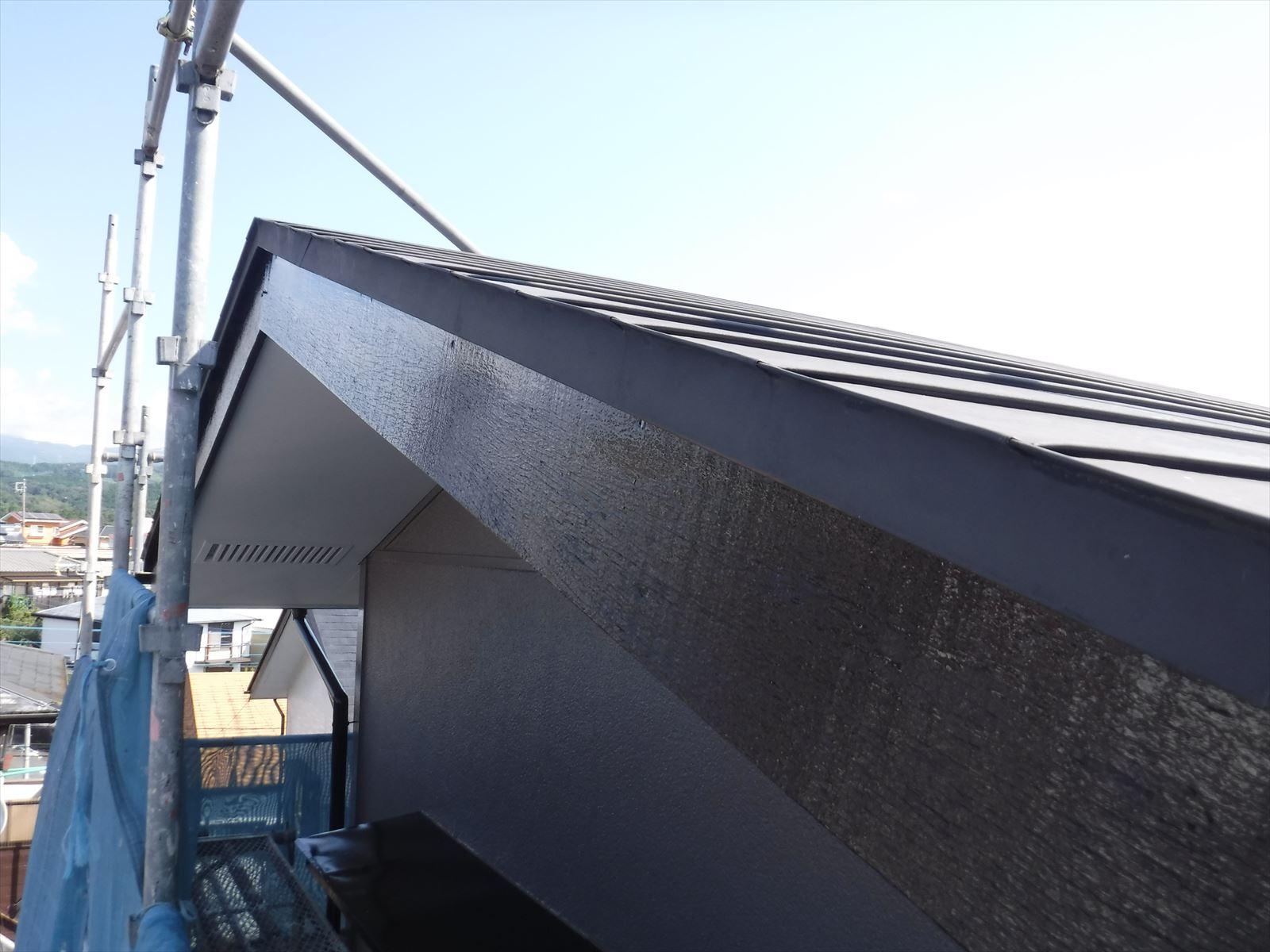 リフォームのひろばで2度目の塗装 破風板