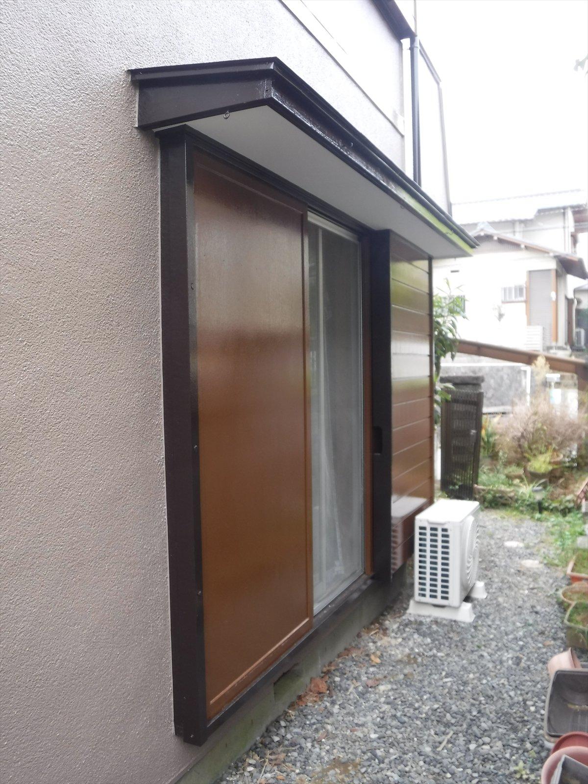 リフォームのひろばで2度目の塗装 雨戸・戸箱