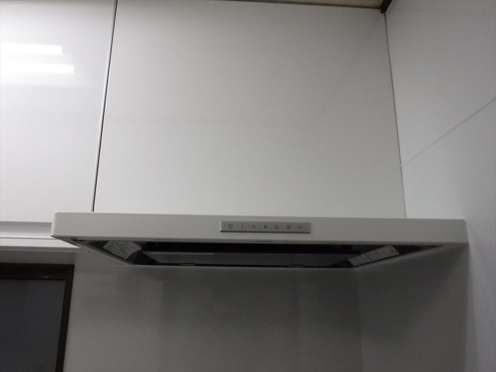 洗濯機をキッチンの隣に並べるしか・・・!トレーシア レンジフード