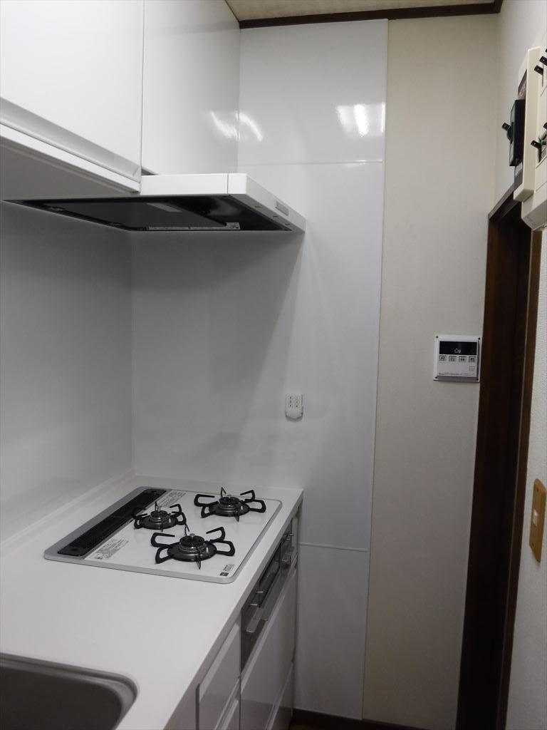 洗濯機をキッチンの隣に並べるしか・・・!トレーシア キッチンパネル
