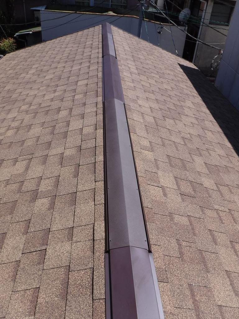 銅板の屋根!って・・・安心しておりました。 換気棟